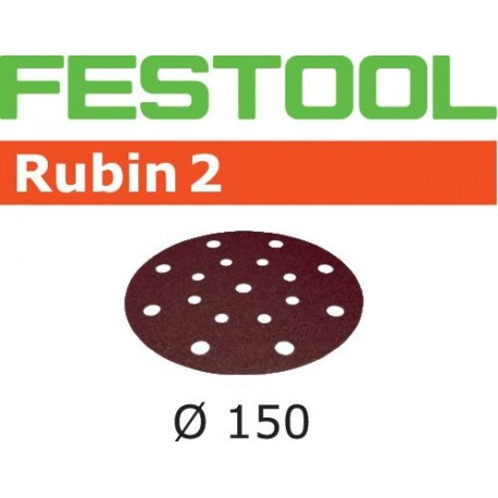 10 Abrasifs Festool Rubin 2 - Ø150 - Grain 120