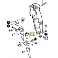 Condensateur Bosch GBH 2, GOF 900, GOF 1200, GOF 1300