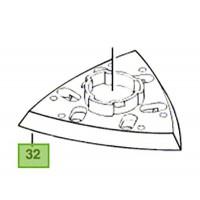 Plateau de ponçage ponceuse delta Bosch PDA 180, PDA 180 E