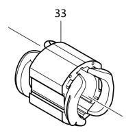 Inducteur 626644-4 perceuse Makita HP1630, HP1631