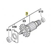 Induit/Moteur perforateur Bosch GBH 2-26, GBH 2400, GBH 2600