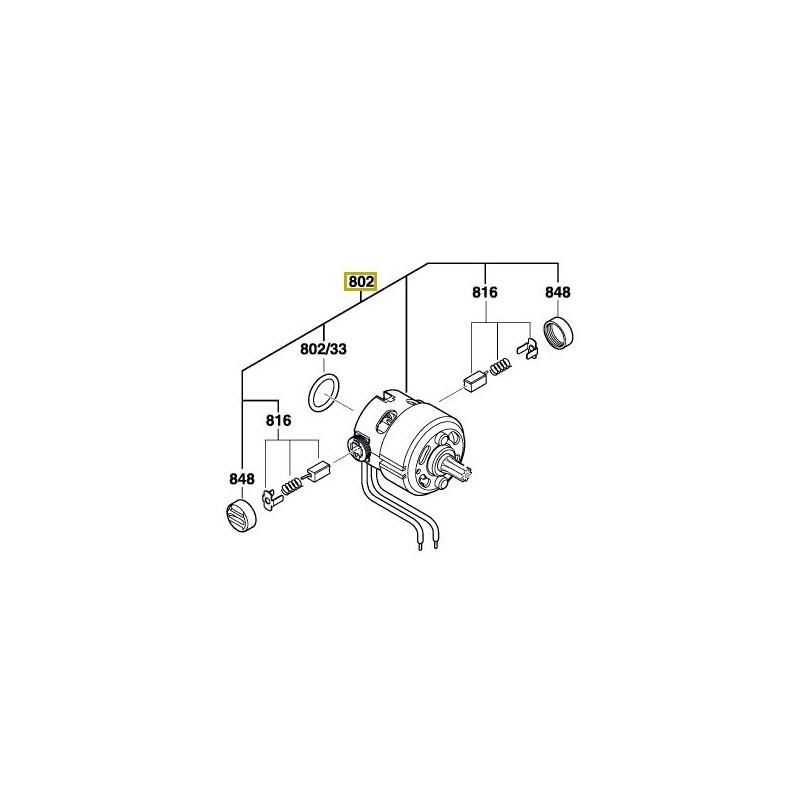 moteur courant continu pour visseuse choc bosch gdr 14. Black Bedroom Furniture Sets. Home Design Ideas