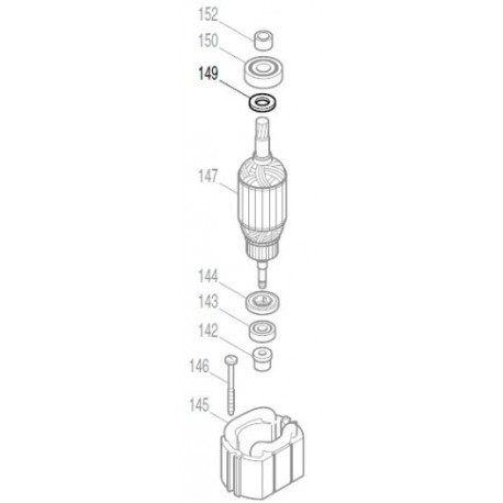 Rondelle plate 12 perforateur Makita HR4001C, HR4002, HR4010C, HR4011
