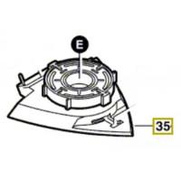 Support pour plateau de ponçage ponceuse Bosch GDA 280 E, PDA 240 E