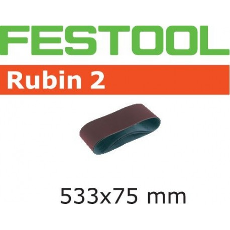 Bandes abrasives Festool 533x75 mm Grain 100