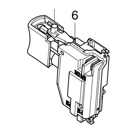 Interrupteur pour perceuse visseuse Makita DDF482, DHP482