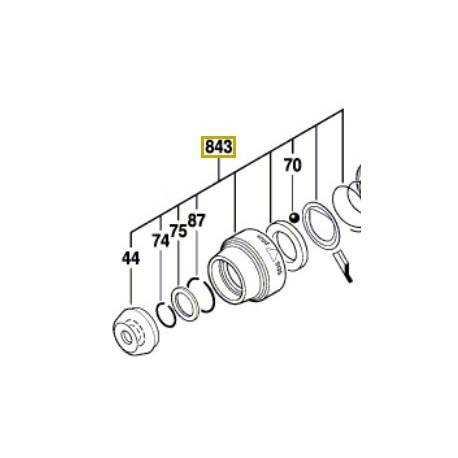 Manchon protection mandrin GBH 2-22, GBH 2-23, PBH 2800 RE, PBH 2900