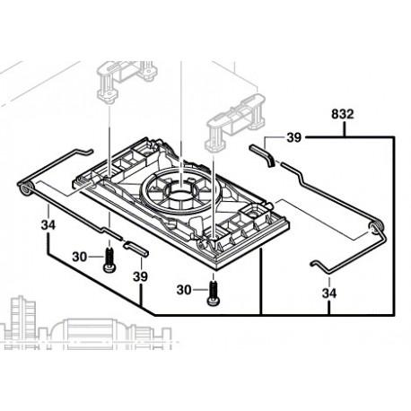 Plaque/Plateau de ponçage pour ponceuse vibrante Bosch PSS 250 AE