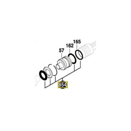 Rondelles percussion Bosch GBH 5-38 D, GBH 5-40 DE, GBH 500, GBH 5400