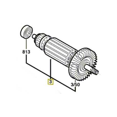 Induit Bosch PSB 15 RE, PSB 16 RE, PSB 570 RE, PSB 5-15 RE, PSB 650 RE