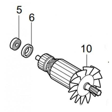 Induit Makita pour tronçonneuse à métaux LC1230
