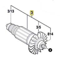 Induit 1 614 010 251 Bosch PBH 2900 RE, PBH 3000 FRE, PBH 3000-2 FRE