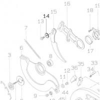 Rondelle 8 (253814-8) pour couteau diviseur scie Makita 5103R