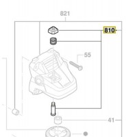 Bouton poussoir 1 617 000 6B1 Bosch : GWS 18 V-LI, GWS 18-125 V-LI