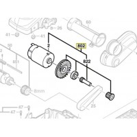 Moteur 2 607 022 251 rabot Bosch GHO 14,4 V - 0 601 595 420