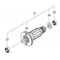 Induit scie circulaire Makita HS7601