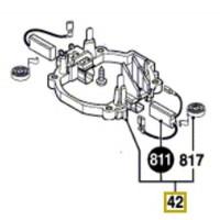 Porte-charbons 1 614 336 085 perforateur Bosch GBH 5-40 DCE, GSH 5 CE