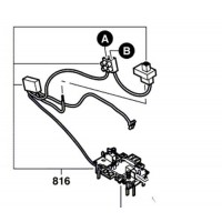 Porte-balais - interrupteur - condensateur ponceuse Bosch PSS 250 AE