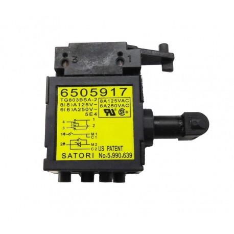 Interrupteur 6505917 pour perforateur-burineur Makita HR2800, HR2810T, HR2811FT