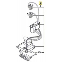 Interrupteur/portes-charbons 1 607 233 567 scie sabre Bosch GSA 18 V-LI
