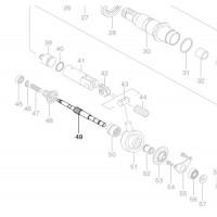 Axe 325976-3 / 325622-8 perforateur Makita BHR261 BHR261T BHR262 BHR262T DHR264