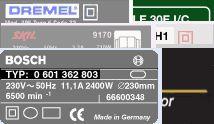 Plaque signalétique Bosch